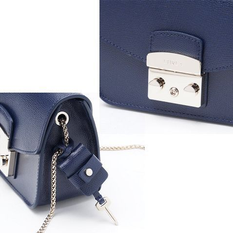 16秋冬新作☆FURLA☆ METROPOLIS Mini Crossbody バッグ NAVY♪