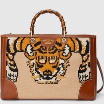 16SS WG115 BAMBOO SHOPPER EMBROIDERED TOTE