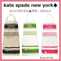 kate spade new york(ケイトスペード) エプロン 国内発送【kate spade】お料理上手に見える☆ストライプエプロン