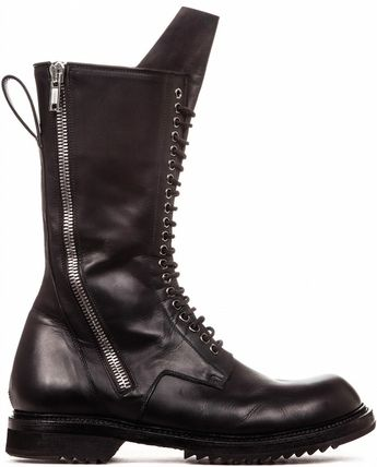 16-17AW RO077 DOUBLE ZIP LACE UP BOOTS WITH ARMY SOLE