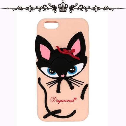 IPHONE 6/6S ケース◆D SQUARED2◆3D CAT SILICONE/ヌード