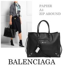 ★関税送料込★ 【BALENCIAGA】 PAPIER A4 ZIP AROUND BLACK