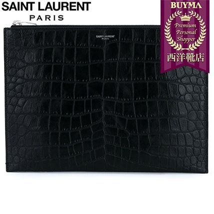 16/17秋冬入荷!┃SAINT LAURENT┃'PARIS' DOCUMENT HOLDER