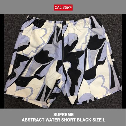 サイズ L!ABSTRACT WATER SHORT BLACK