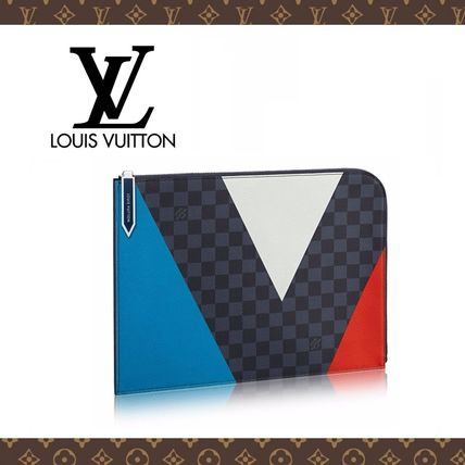 2016新作☆LOUIS VUITTON☆POCHETTE JOUR GM REGATTA クラッチ