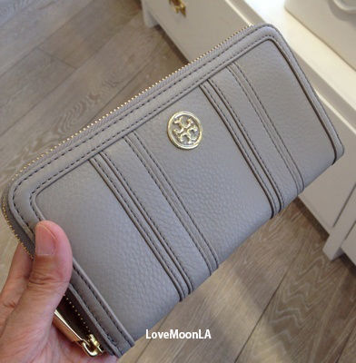 【Tory Burch】セール!LANDON CONTINENTAL WALLET☆FRENCH GRAY