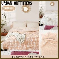 Urban Outfitters(アーバンアウトフィッターズ) ベッドカバー・リネン 【Urban Outfitters 】Waterfall Ruffle Duvet Cover (シングル)