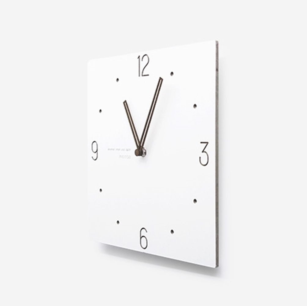 mooqs  Simple Silent/No Ticking Wall Clock  square type 3