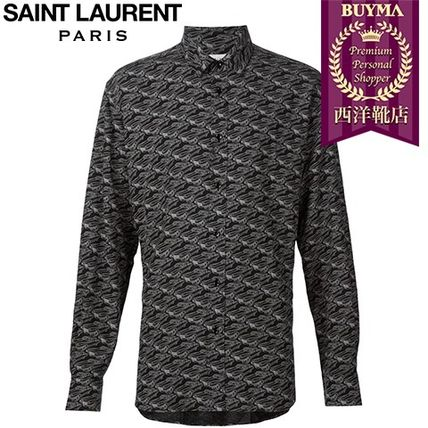 16/17秋冬入荷!┃SAINT LAURENT┃SIGNATURE YVES COLLAR PRINTE