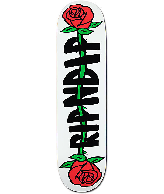 "RIPNDIP リップンディップ RipNDip Rose 8.0"" Skateboard Deck"