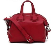 【関税負担】 GIVENCHY NIGHTINGALE SMALL HANDBAG/DARK RED