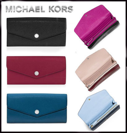 MICHAEL KORS★Greenwich Saffiano Leather Wallet 国内発送!