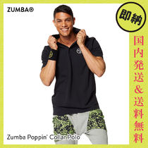 ZUMBA Poppin Collar Polo|ズンバ ポロシャツ Back to Black