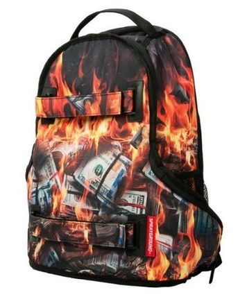 追尾/関税込☆Sprayground Fire Money Skate Bag