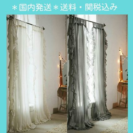* Urban Outfitters * raffle gauze curtains