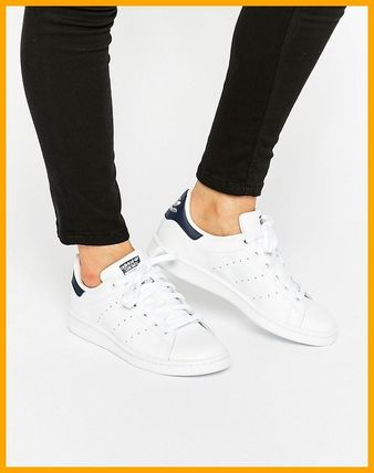 ☆adidas☆スニーカー♪ White And Navy Stan Smith Trainers