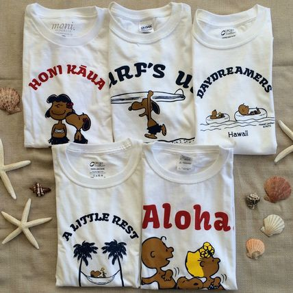 8 types Hawaii limited edition tanned Snoopy unisex T shirt