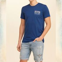 Hollister Co.(ホリスター) Tシャツ・カットソー 【国内即発】ホリスター TRAPPED PATTERN GRAPHIC TEE★BLUE★XL
