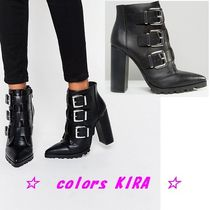 ASOS ENZA Multi Buckle Pointed Ankle Boots♪
