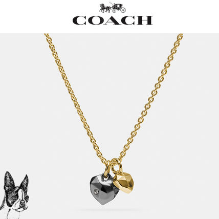 ☆★COACH★☆ Faceted heart charm necklace