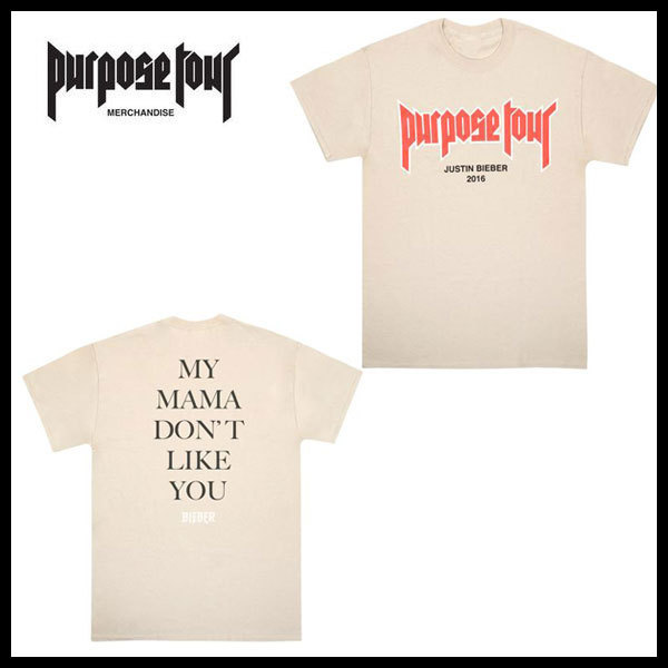 purpose tour JUSTIN BIEBER fear of god MY MAMA Tシャツ