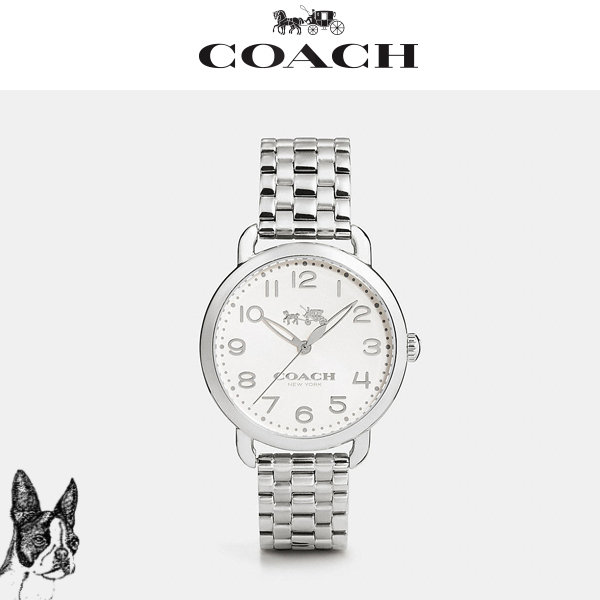 ★COACH★  Delancey 36mm stainless steel bracelet watch