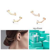 日本未入荷【Tiffany & Co】 T Smile Earrings (Gold or Rose)