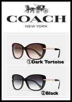 ☆日本未入荷*新作☆COACH☆chain cat-eye sunglasses* L108