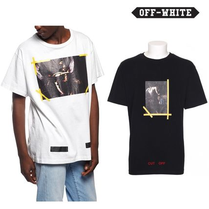16AW★送料・関税込//Off-Whiteプリントカットソー