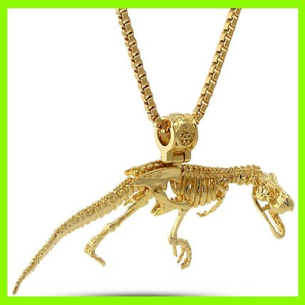 14K Gold T-Rex Necklace