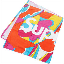 Supreme SS16 Abstract Beach Towel 赤 (Supremeステッカー付き)