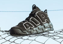 "★WMNS★[NIKE]AIR MORE UPTEMPO GS""BLACK""【送料込】"