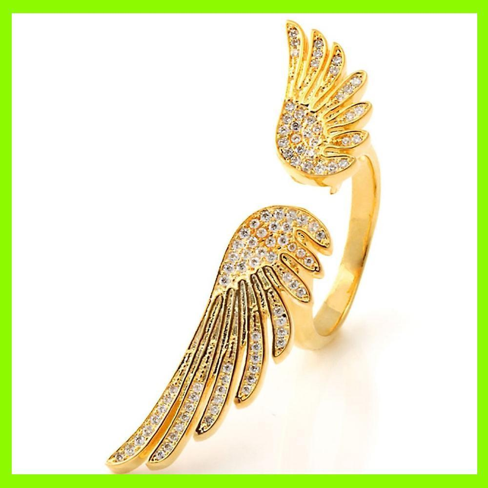 18K Gold Winged Ring