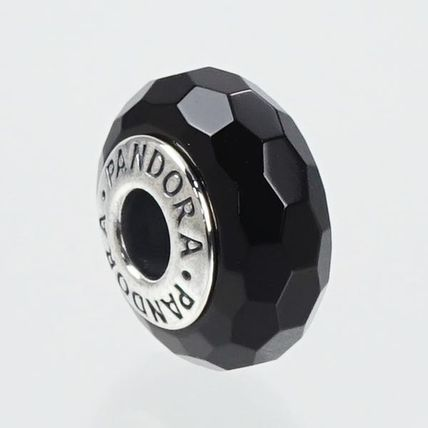PNDORA 791069 チャーム BLACK FACETED GLASS CHARM