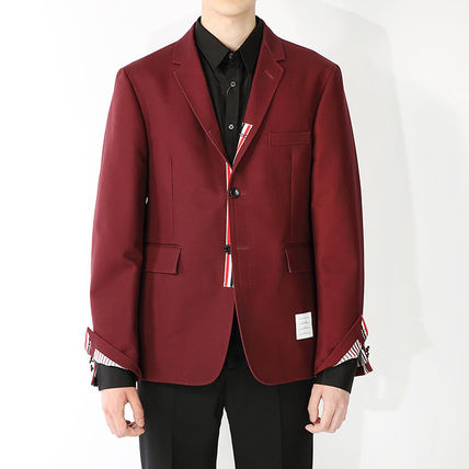 Thom Browne 16 AW HIDDEN 3 line chest leather / jacket