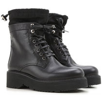 Leather Lace-Up Boots レザーレースアップブーツ