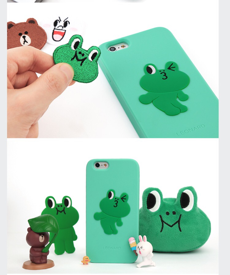 LINE FRIENDS正規公式 レナード iphone6/6s 6+/6s+ galaxyケース