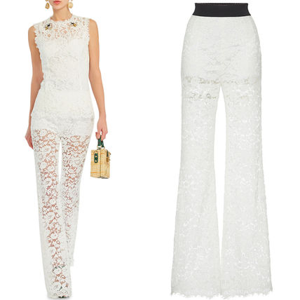 16-17AW DG576 CORDONETTO LACE FLARE PANTS