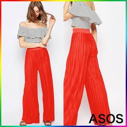 ASOS Jersey Pleated Wide Leg Trousers 関税/送料込