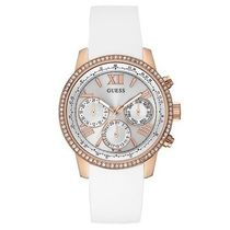 セール GUESS White Rose Gold tone Feminine 腕時計 U0616L1