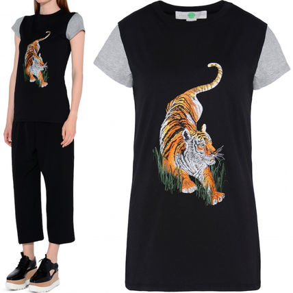 16-17AW SM238 TIGER EMBROIDERY T-SHIRT