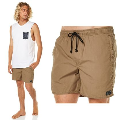AFENDS(アフェンズ) BAYWATCH MENS BEACH SHORT  MILITARY