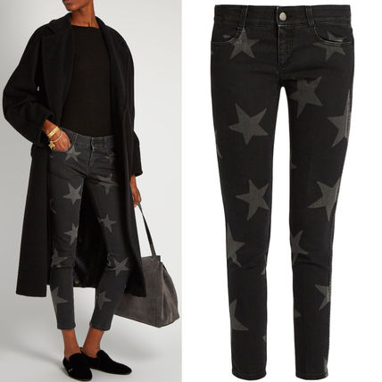16-17AW SM249 STAR PRINT LOW RISE SKINNY FIT JEANS