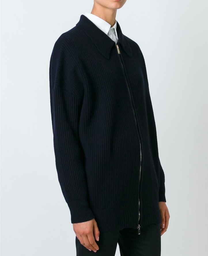 16-17AW SM256 ZIP-FRONT OVERSIZED CARDIGAN