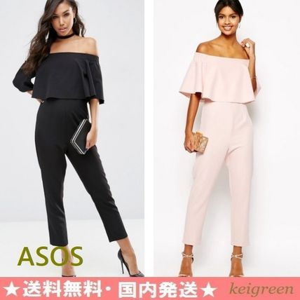 ASOS frill off shoulder all-in-one
