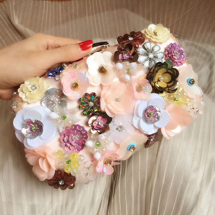 Flower chain clutch purse party wedding