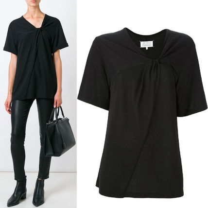 16-17AW MMF059 SHORT SLEEVE T-SHIRT WITH TWIST DETAIL
