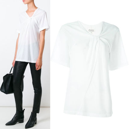 16-17AW MMF060 SHORT SLEEVE T-SHIRT WITH TWIST DETAIL