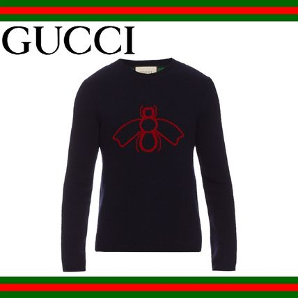 GUCCI(グッチ) Bee and Web intarsia wool sweater セーター