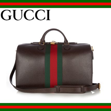 GUCCI(グッチ) Grained leather holdall レザーボストンバッグ